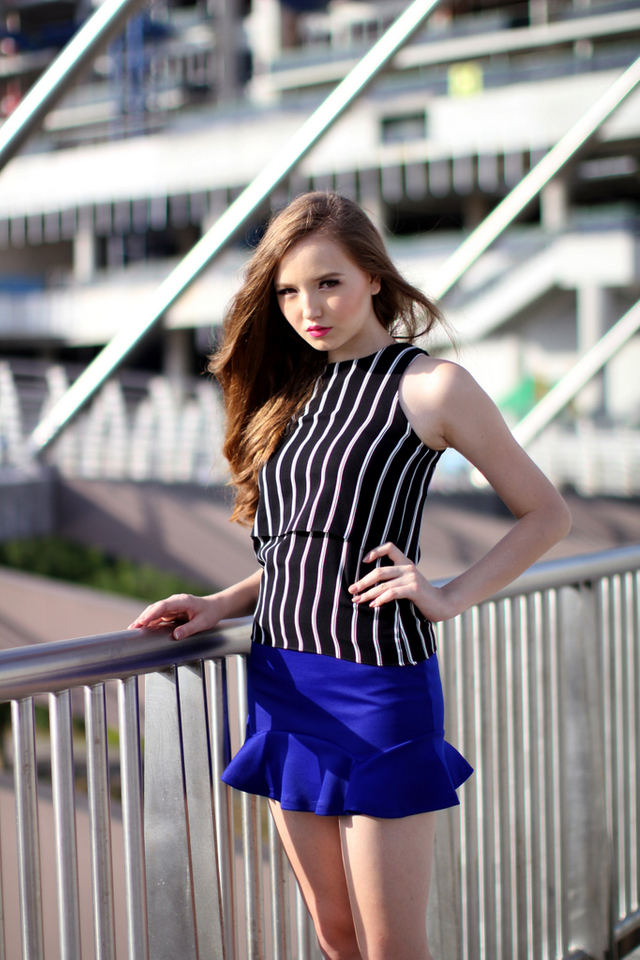 TSW Emma Two Tiered Top in Black