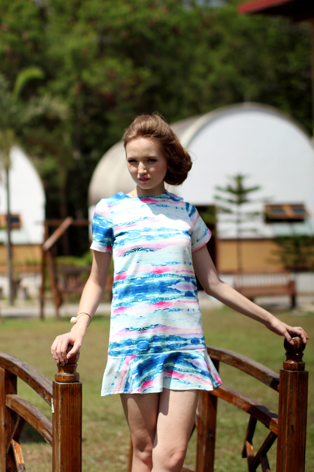 TSW Addison Drop Waist Dress in Pastel