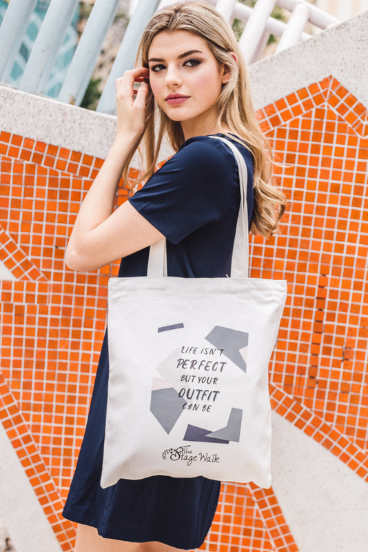 """""""Life isn't perfect but your outfit can be"""" Tote Bag"""