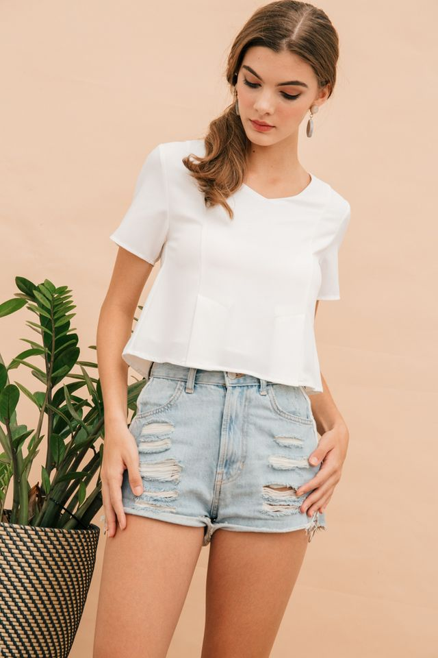 Pella Basic Structured Top in White