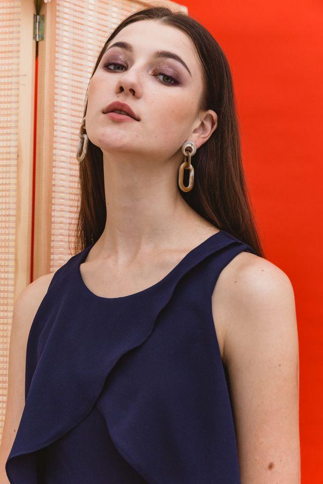 Cerie Marble Earrings in Brown