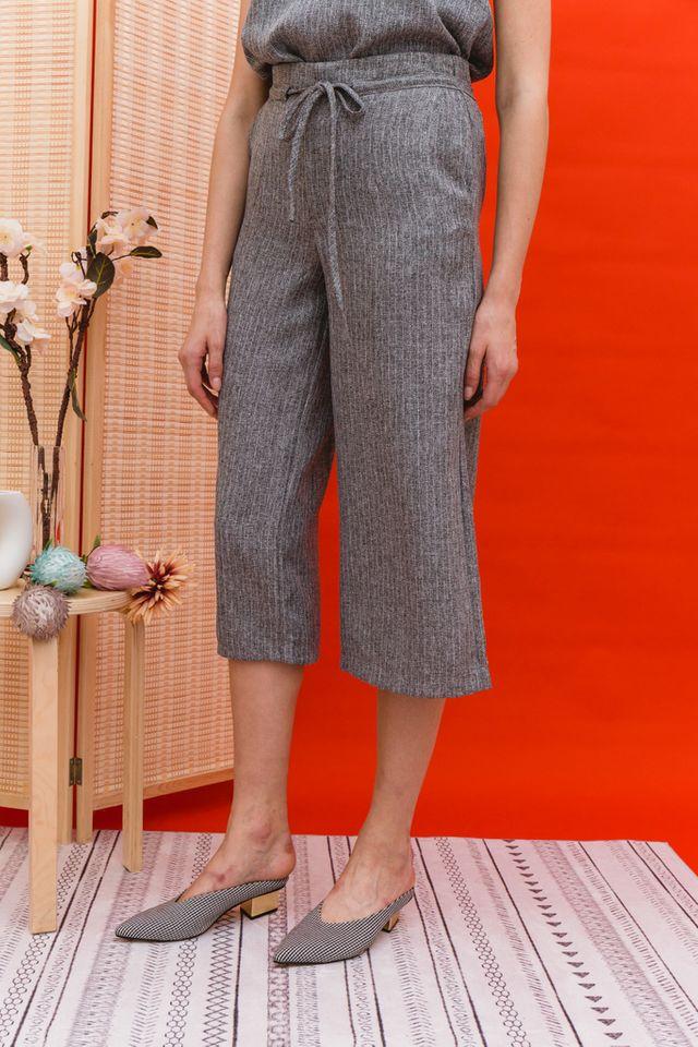 Lauryn Stitched Culottes in Grey