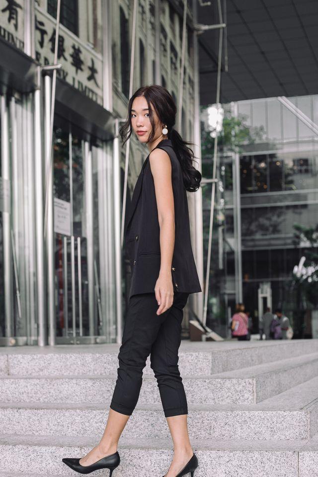 Larsen Tapered Work Pants in Black