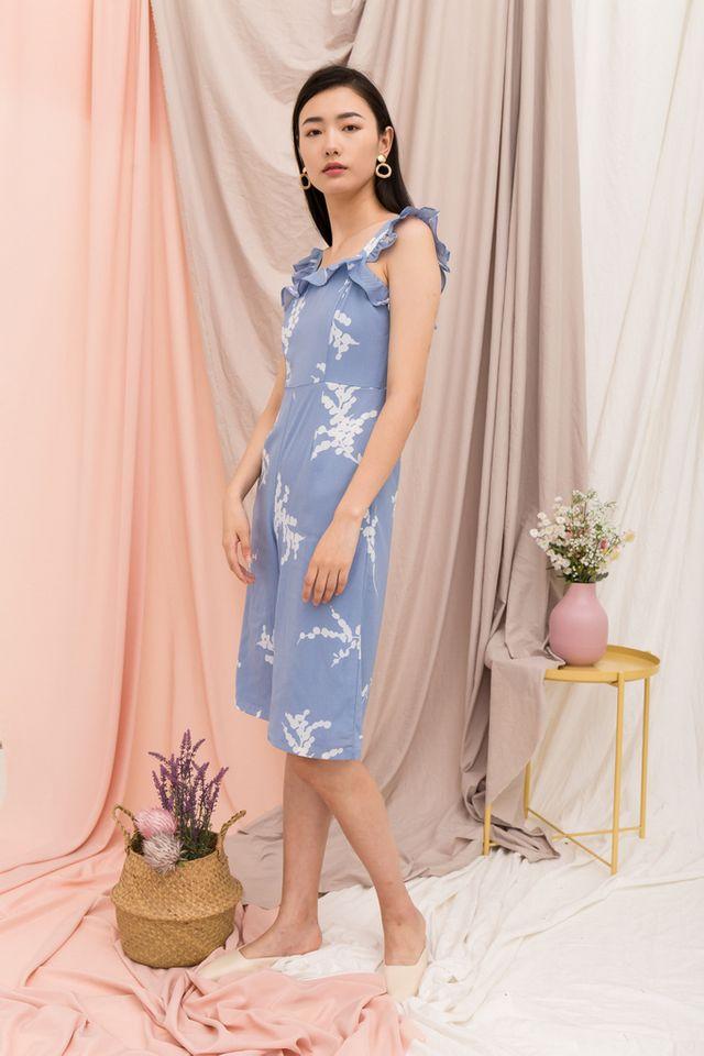 Nicolet Foliage Jumpsuit in Blue (L)