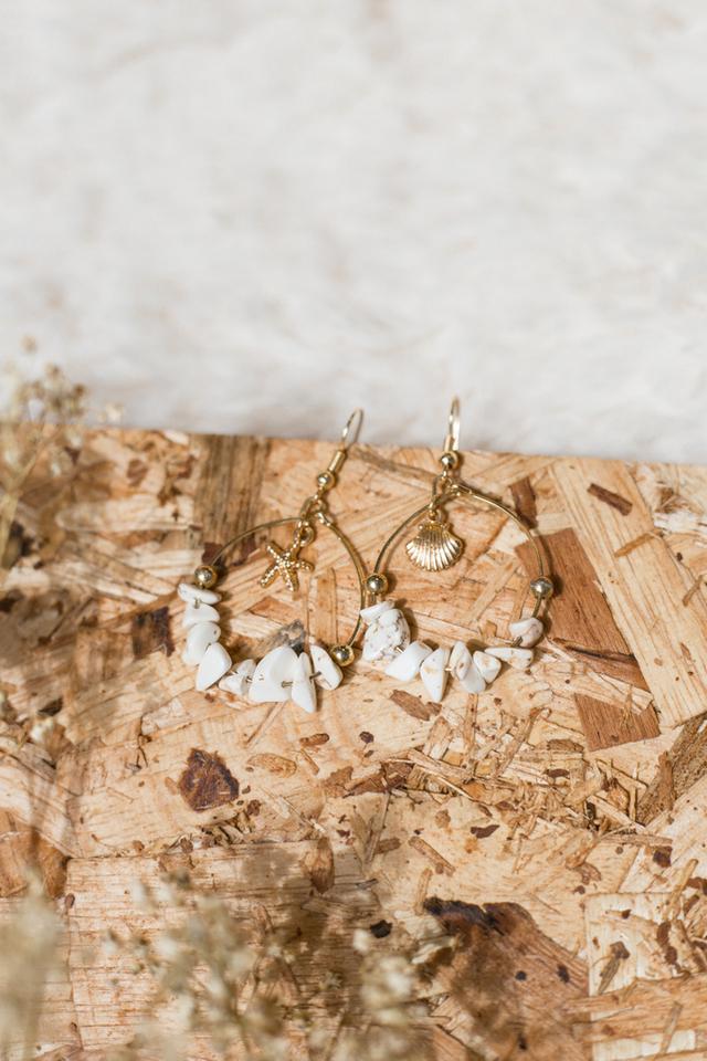 Cheyenne Seashell Hoop Earrings