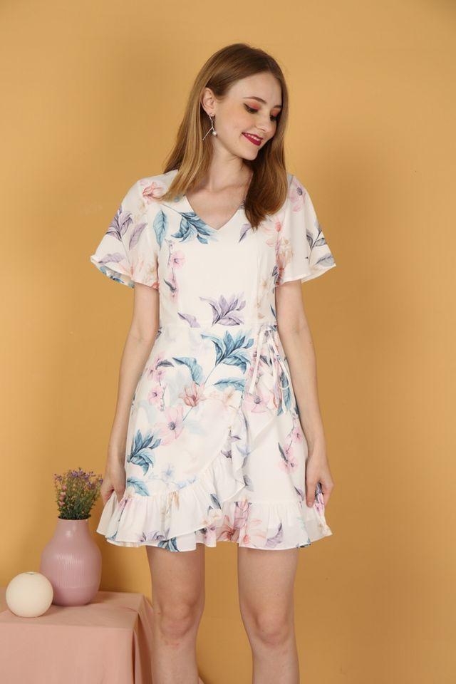 Misaki Floral Ruffles Dress (XS)