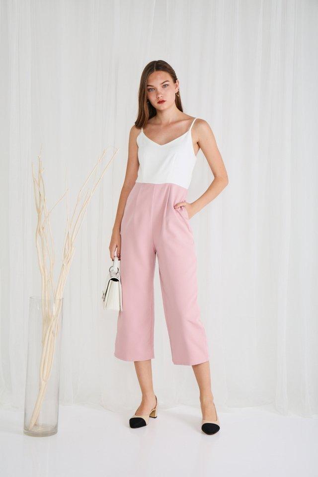 Zarya Colourblock Jumpsuit in Pink