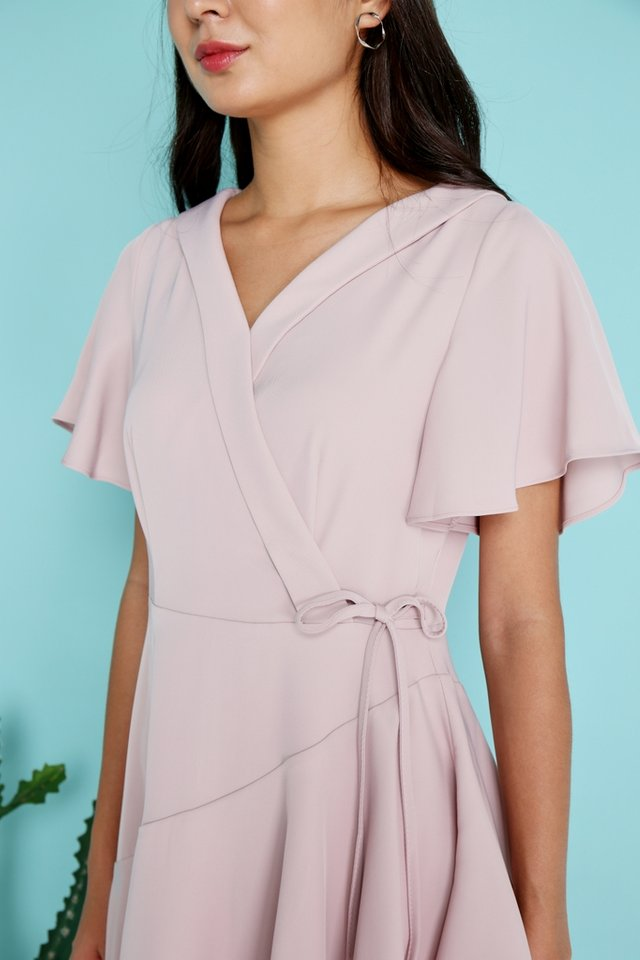 Ayleen Tiered Skater Dress in Pink (XS)
