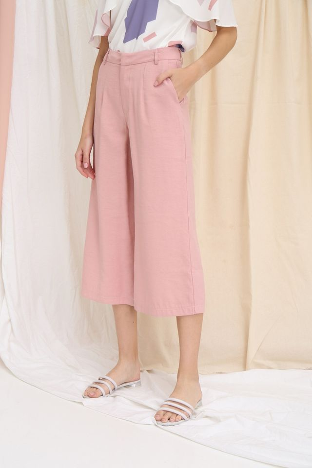 Dalinda Wide Leg Culottes in Pink