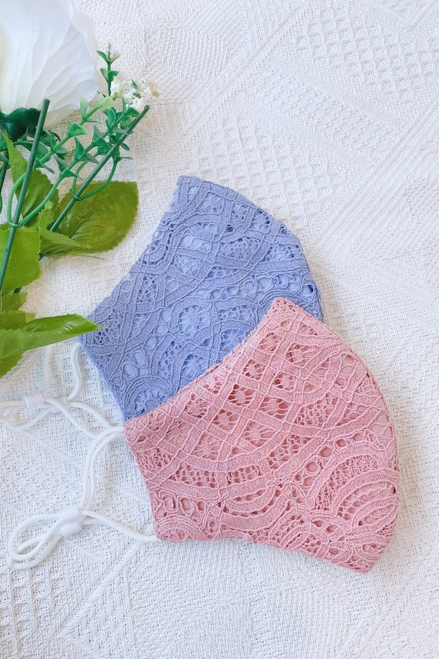 TSW Rivera Lace Mask in Pink