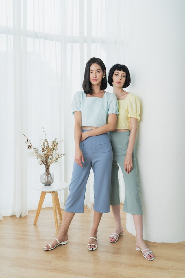 Charvi Pocket Culottes in Sage