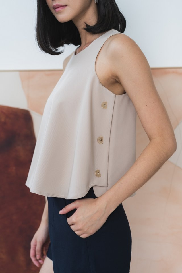 Jenesis Side Button Top in Sand