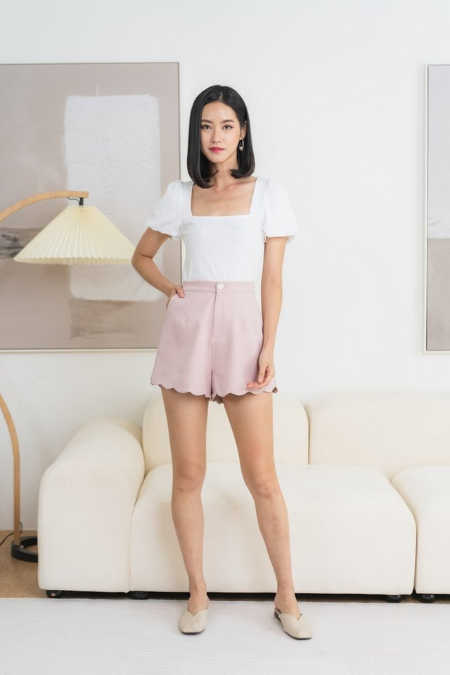 *BACKORDER* Fabiana Scallop Shorts in Pink