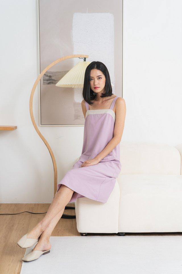 Nataly Pocket Midi Dress in Pink